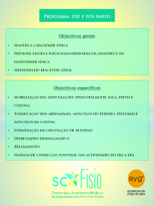 postscf&ayg - objectivos